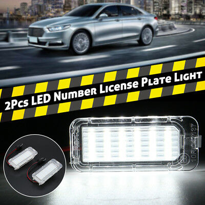 2x LED Xenon White Number License Plate Light Lamp For Ford Fiesta Focus Mondeo