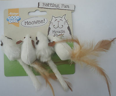 Good Girl Cat Toy Mice Meowee Batting Mice Pack Cat Toys Kitten Toys Pack Of 4