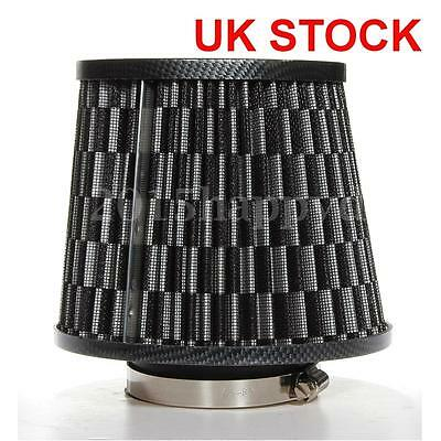 Car Air Filter Induction High Power Mesh Cone Carbon Finish For VW BMW AUDI FORD