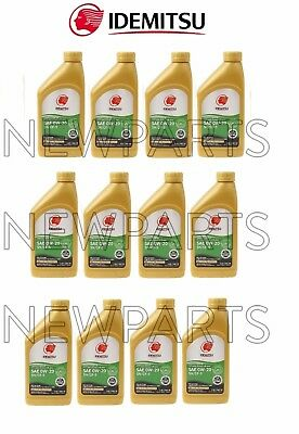 12 Quarts Pack 0W-20 Synthetic SN/GF5 Engine Motor Oil kit for Acura for Honda