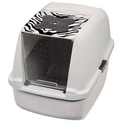 Large Litter Box Cat Spacious Easy Cleaning Pet Hygiene Filter Toilet High Tray