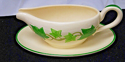 Franciscan Ivy 1940s Gladding McBean Gravy Boat - Green [S5894]