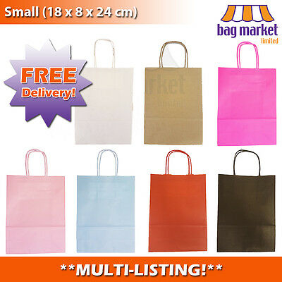 Coloured Paper Gift Bags! | Loot/Party/Wedding/Birthday/Hen | Twisted Handle!