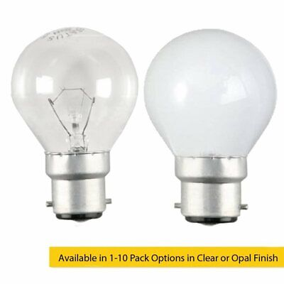 40W BC B22d Incandescent Round Golf Ball Light Bulb in Clear Or Opal/Pearl