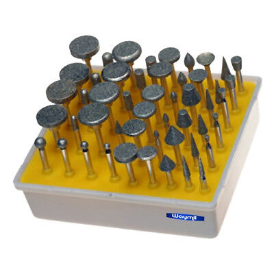 Diamond Bur Set 50 Pcs Grit – 240 For Foredom, Dremell, Jewelry Rotary Tool