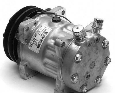 Sanden Compressor SD7H15 Direct Mount, Head:JD 132MM A2, 12 Volt