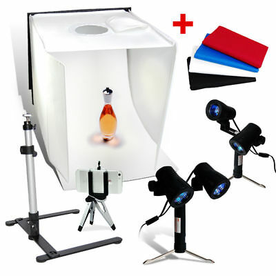 "Studio 16"" Table Top Photography Studio Light Tent Kit in a Box - Photo New"