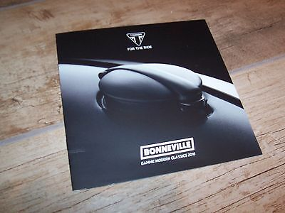 Catalogue /  Brochure TRIUMPH Bonneville 2016 //