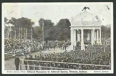 Vintage Postcard - Official Reception to Admiral Sperry - Free Postage