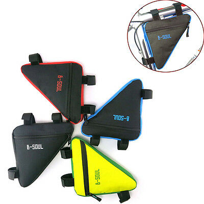 Waterproof Triangle Cycling Bicycle Front Tube Frame Pouch Bag Holder Saddle