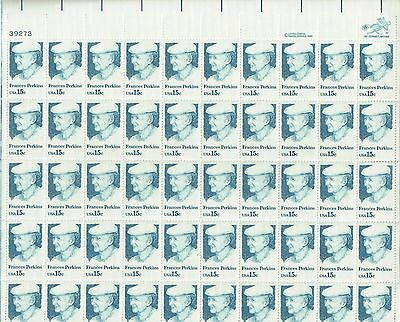 USA-United States 1980 15c Postage Frances Perkins Sheet Scot 1821 MNH