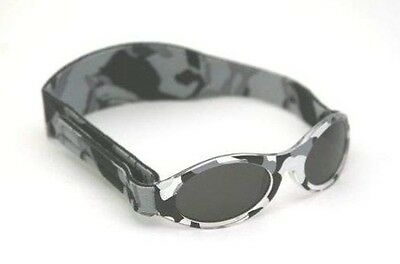 Baby Banz Adventure Banz Infant sunglasses - Grey Camo for ages 2 Months - 2 Yea