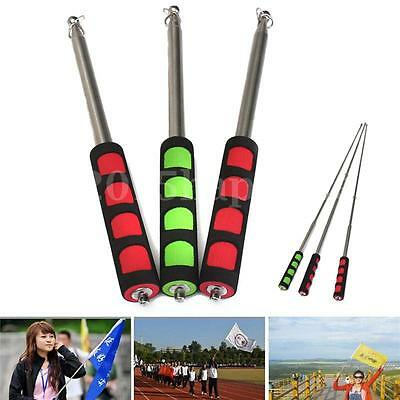Extendable 2M Portable Telescopic Handheld Flag Pole Tool for Flags Windsock Hot