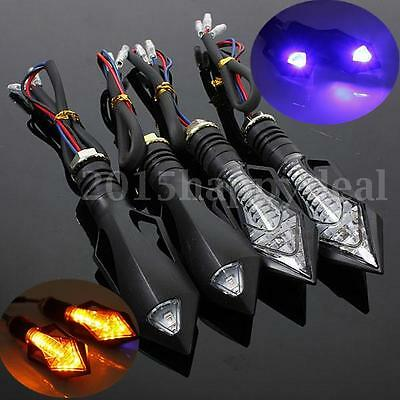 4x UNIVERSAL 13 LED MOTORCYCLE MOTORBIKE TURN SIGNAL INDICATORS LIGHT AMBER LAMP