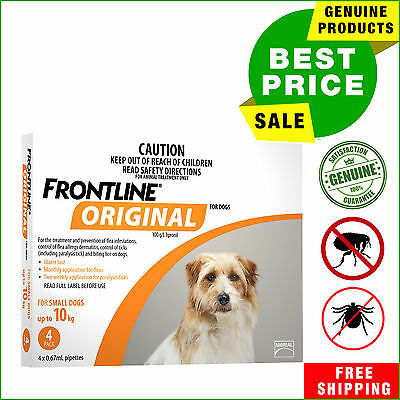 Frontline Original For Small Dogs Up To 10 Kg Orange Pack 4 Pipettes by Merial