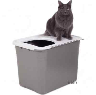 Litter Box Cat Easy Cleaning Hygiene Toilet Top Entry Hinged Flap Cover Kitten
