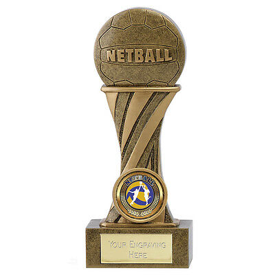 Netball Shooter Ball Trophy Showcase Range Resin 2 Sizes Available Engraved Free
