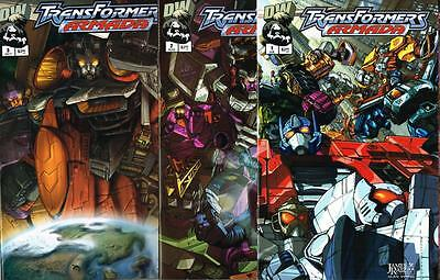 First 3 issues of Transformers Armada - Issue # 1, 2, 3 - Dreamwave - NM (1444)