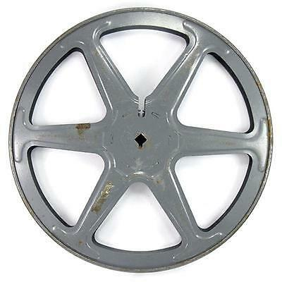 Vintage Cecol 800ft 16mm Grey Metal Movie Film Reel Spool