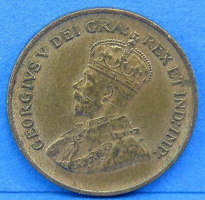1932 Penny King George V Canadian One Cent Coin Canada