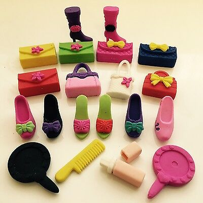 4pcs Novelty Children Kid Fashion Erasers Cute Rubbers Party Bag Gift