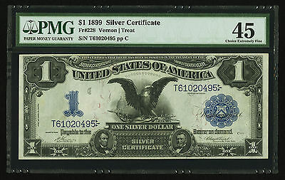$1 1899 Silver Certificate Fr 228 PMG Choice Extremely Fine 45