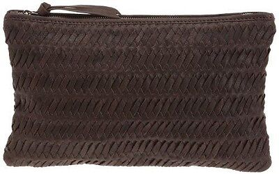 Loxwood  Pochette Tressé,  Pochette donna, Marrone (Braun (Dark Brown)) NUOVO