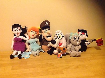 ROCKY AND BULLWINKLE Lot Of 6 Boris Natasha Fearless Leader Plush Rocky