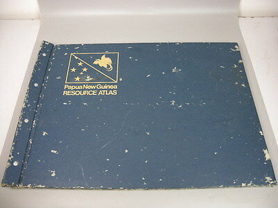 Resource Atlas Papua New Guinea Reference Educational Book Hardback 1974