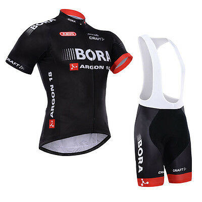 Mens Cycling Jersey Bib Shorts Kits Team Bike Riding Clothes Shirt Pants Pad Set
