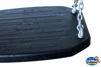 EXTRA WIDE Commercial Adult Heavy Duty Swing Seat Rubber Galvanised Playground