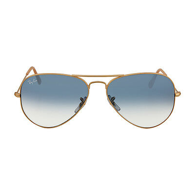 Ray Ban Aviator Arista Light Blue Gradient Lenses 58mm Sunglasses