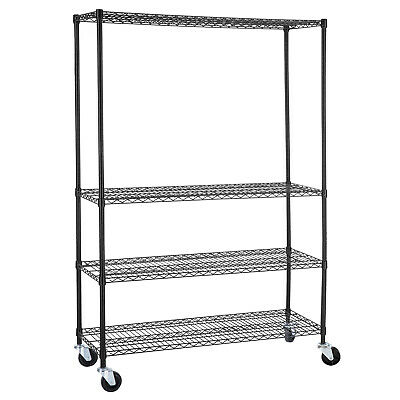 "82""x46""x18"" Heavy Duty 4 Tier Shelving Rack Steel Wire Metal Shelf Adjustable"