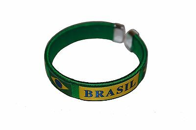 Brasil Green Country Flag Flexible Adult C Bracelet Wristband .. New