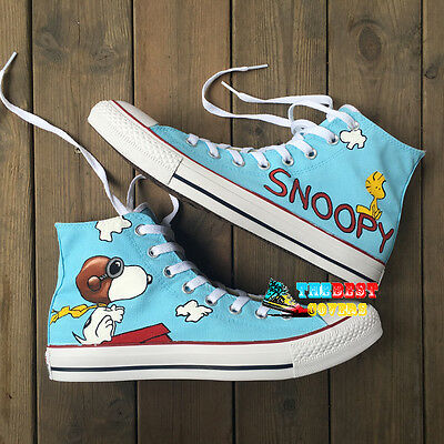 91764e71acb7 CONVERSE Chuck Taylor All Star SNOOPY peanuts comic strip hand painted shoes