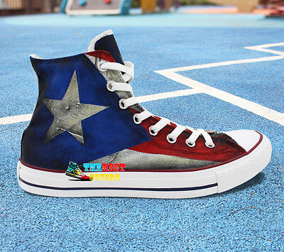 9d180b4e9d83 CONVERSE All Star High FLAG PUERTO RICO Hand painted shoes zapatos scarpe