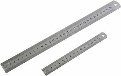 "6"" / 12"" OR Both Rule Stainless Steel Ruler Small/Large Metric / Imperial 30cm"