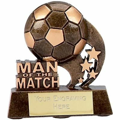 Football Trophy Man of the Match Ball Award 8.25cm Gold FREE ENGRAVING A879