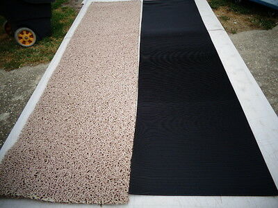 Miners Moss & Ribbed rubber matting 250 x 600mm Heavy grade 2 piece deal