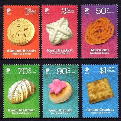 Singapore 2015 Traditional Biscuits Set 6 MNH