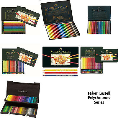 Faber-Castell Polychromos Color Pencil 12, 24, 36, 60, 72, 120, 120 wood