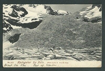 Vintage Postcard - Hochstetter Ice Falls New Zealand - Free Postage