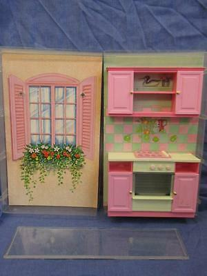 Vintage Hornby Systems 1991 Cassy Doll House Furniture Kitchen - Some Damage
