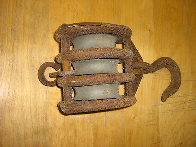 Antique Triple Block & Tackle Pulley