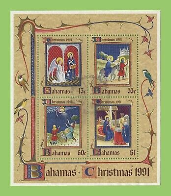 Bahamas 1991 Christmas miniature sheet used