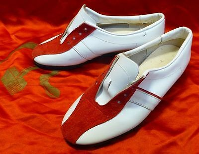 Vtg old Russian USSR sport leather Sneakers Olympic Games Moscow 1980 not used