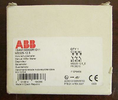 ABB MS325-12.5 MS325 Manual Motor Starter 9-12.5 Amp 1SAM150000R1011