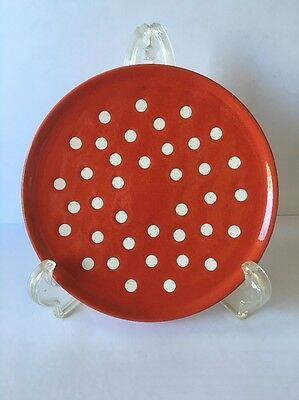 Vintage Waechtersbach Red with White Polka Dots Salad Plate