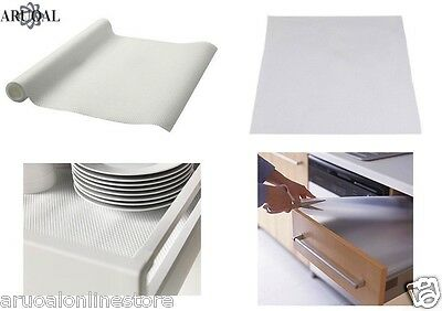 IKEA VARIERA Kitchen Drawer/Cupboard Liner Non Slip Rubber Mat White/Transparent
