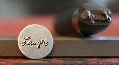 "SUPPLY GUY 1/2"" or 5/8"" Advantage Series Laugh Word Metal Design Stamp AD-48"